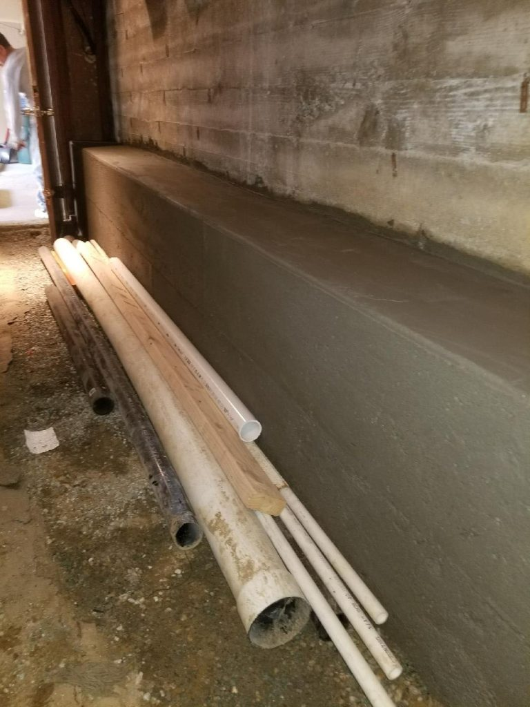 New Concrete Wall in Garage