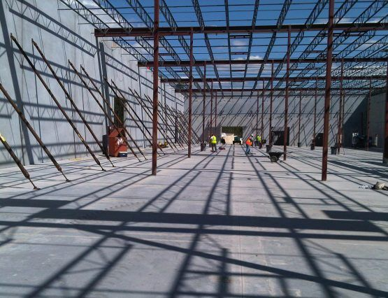 Tilt Up structrural steel frame