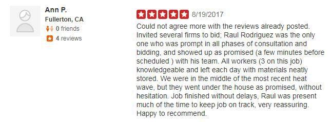 Yelp Review - Ann P.
