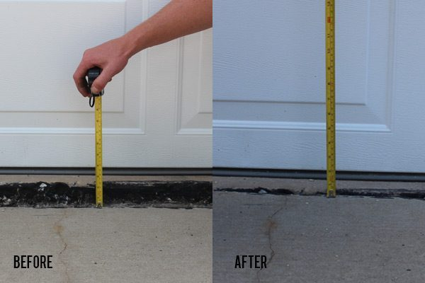 Before and After Slab Lifting