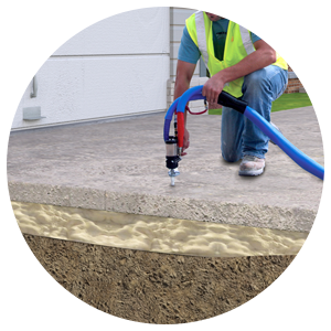 Raised Concrete with Polyurethane Foam