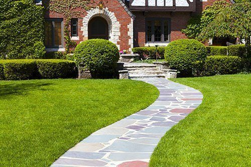 Residential Home with Garden Walkway