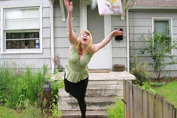 Woman Falling Tripping Hazards