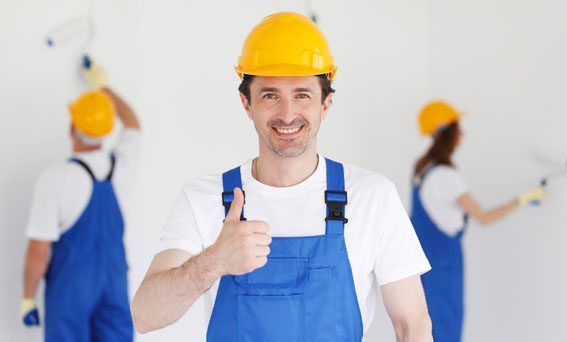 Workman Giving Thumbs Up