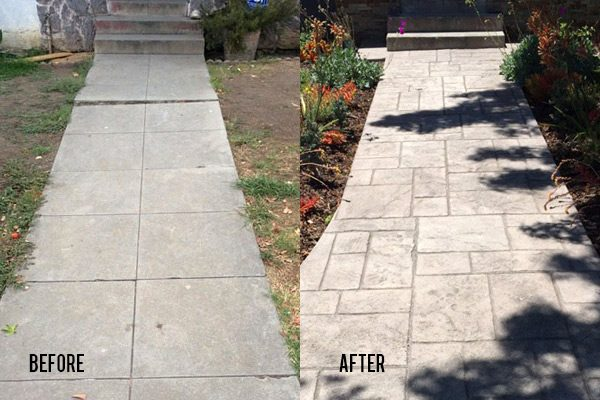 Before and After Foam Leveling and Paving