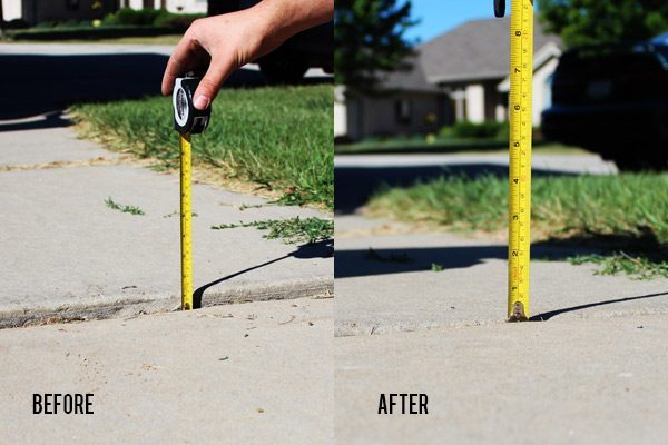 Before and After Concrete Lifting