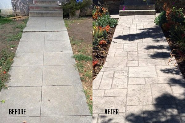 Before and After Stamped Concrete