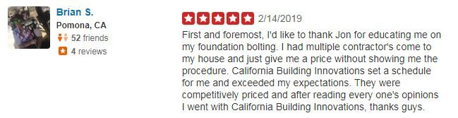 Yelp Review - Brian S.