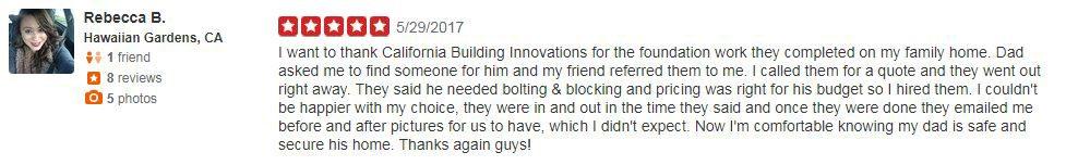 Yelp Review - Rebecca B.