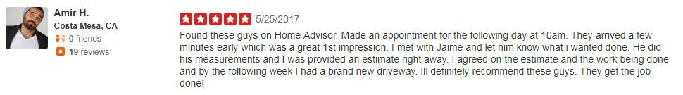 Yelp Review - Amir H.