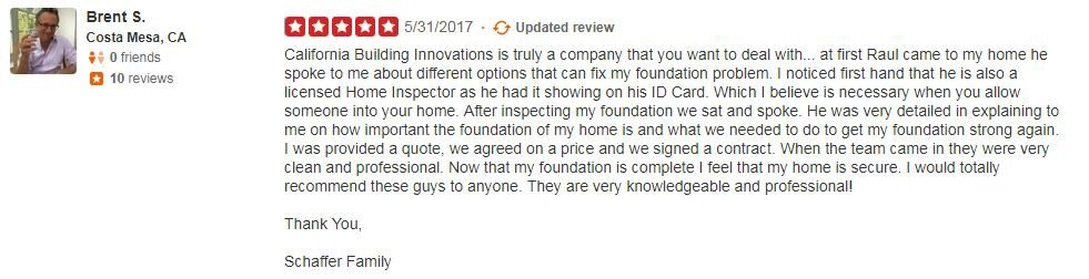 Yelp Review - Brent S.