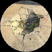 Pothole in Concrete